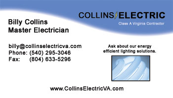 Collins Electric Business Card (Runner Up)